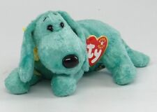 """TY BEANIE BABY ~ DIDDLEY (Green Dog) ~ July 25, 2000 ~ 4383 6.5"""" MINT + TAGS"""