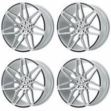 4x Asanti 20x9 ABL-11 Sirius Wheels Brushed Silver Carbon Fiber 5x4.5 5x114 +35