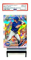 2019 Bowman Chrome Sapphire Mets BRETT BATY RC Card PSA 10 GEM MINT / Low Pop !