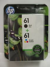 HP 61 BLACK + 61 TRI-COLOR INK CARTRIDGE CR259FN NEW SEALED EXP 2/19+ NT 3057