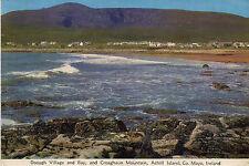 postcard Ireland Dooagh Village and Bay , & Croaghaun Mountain Achill  Island