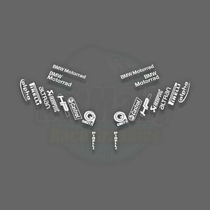 RACE SPONSOR STACK BMW RRv1 PIRELLI - DECALS STICKERS GRAPHICS S1000RR