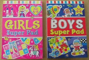 Girls age 6-8  boys 6-8  super activity pad Times tables 7-10 super activity pad