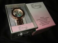 Disney Little Mermaid Ariel Watch Rose Gold Link Band Adult & Shell Bling Charms