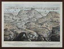 I1-010. BATAILLE DE SEBASTOPOL. LITHOGRAPHIE SUR PAPIER. LONDRES 1855.