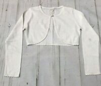 Monsoon Girls Ivory Cream Sparkly Cropped Party Cardigan Size 11-12 yrs