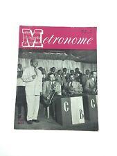 Vintage Metronome Music Magazine June 1944 Count Basie Jazz Big Band VG