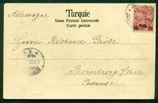 GERMAN COLONIES Offices in Turkey 1903, 20p postcard tied JERUSALEM to BERNBURG