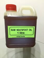 Raw Neatsfoot oil 1litre.Leather softener. Leather care, tanning