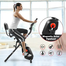 Folding Exercise Bike 8-Level Resistance Cycling Cardio Bicycle Home Gym Workout