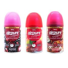 3 X AIRPURE FRESHMATIC AUTOMATIC SPRAY REFILLS 250ML CHRISTMAS SCENTS AIRWICK