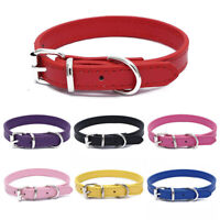 Adjustable Small Pet Dog Faux Leather Collar Puppy Buckle Neck Strap Supplies