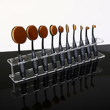 Cosmetic Makeup Brush Holder For 10pcs Toothbrush Brush Organizer Acrylic Shelf