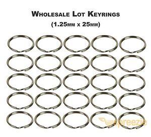 Metal Flat Split Key Rings Bulk for Home Car Keys Pendants DIY Art Crafts Sopito 100 Pieces Split Keyrings
