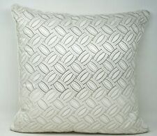 "Hudson Park Lucca Metallic Cotton Silk Embroidered 18"" Geometric Throw Pillow"