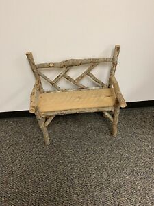 Childs Farmhouse Bench. Wooden Bench Made With Tree Limbs.