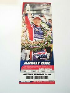 2018 Indianapolis Indy 500 Club Ticket Stub Will Power Takuma Sato Light Creases