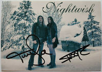 ⭐⭐ Nightwish ⭐⭐ Autogramm Floor Jansen +Tuomas Holopainen ⭐⭐ Autogrammkarte ⭐⭐