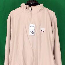 NWT Callaway X Series Full Zipper Men XL Beige Wind Golf Sports Athletic Jacket