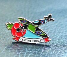 WW2 SPITFIRE ENAMEL POPPY DAY BADGE BATTLE OF BRITAIN UK HELP FOR HEROES 2019