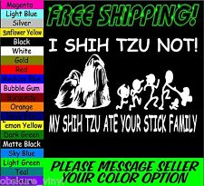 MY SHIH TZU YOU NOT ATE YOUR STICK FAMILY VINYL DECAL STICKER LAPTOP MACBOOK