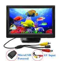 "5"" TFT LCD CCTV Monitor 5V /2A USB Power Mini Bildschirm 800*480 AV-Eingang New"
