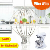 Fits K45WW 6-Wires Whip Mixer Multi-Purpose For Whirlpool KitchenAid Stand Mixer