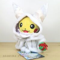 Pokemon Center Original 2019 Frosty Christmas Pikachu Santa Claus Plush doll