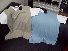 2 x CUTTING EDGE T-SHIRT TANK TOPS BLUE & STONE SIZE XL BNWT's
