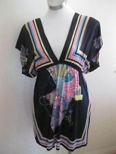 Ladies Black & Multi-Coloured Kafton Dress Size M