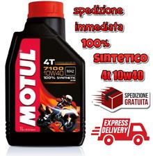 Motul Olio Motore 7100 10W40 100% Sintetico Lubrificante 1L Moto Ester Tech