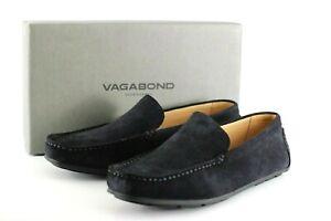 New Vagabond Wayne Indigo Suede Leather Shoe Moccasin UK Size 10.5 EU 45