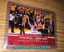 2016 Panini Instant NBA Finals Kyrie Irving Lebron James #10 ONLY 100 MADE RED