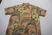 Tommy Bahama 100% Silk Nantucket Floral Pocket CAMP SHIRT Large L