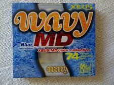 1 Brand New XEUS Wavy Blue MD74 Minidisc - Factory sealed