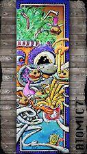 5x15 BURGERS, graffiti tattoo wall art fast food fries hamburger abstract hat 2