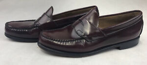 GH BASS WEEJUNS LOGAN Penny Loafer Wine Leather Men's Size 10 D