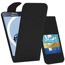 BLACK FLIP LEATHER PHONE CASE WITH CARD SLOT FOR SAMSUNG GALAXY NOTE 2 UK SELLER