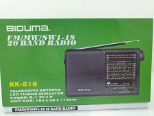 BIDUma. Weltempfänger Radio Tragbares 20 Band  FM, MW Taschenradio Mini Pocket