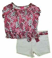 Penny M Big Girls Floral Top 2pc Short Set Size 14/16