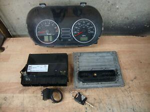 2004 FORD FIESTA MK6 1.4 ENGINE ECU KIT SIEMENS 4S61-12A650-NB S120977013 87K