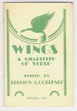 WINGS A QUARTERLY OF VERSE Winter 1950 - review of ALFRED TENNYSON biography