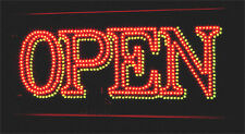 SUPER BRIGHT ANIMATED Red & Green LED OPEN SIGN R/G