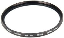 Bower 58mm UV Filter for Nikon 50mm f/1.8G, 50mm f/1.4G, Nikon 55-300mm Lens +