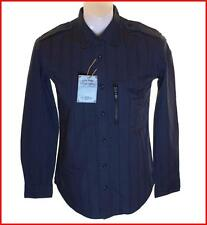 Bnwt Men's Authentic Wrangler Long Sleeve Shirt Small New Navy Blue