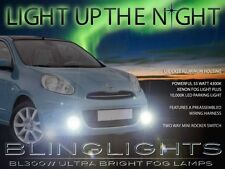 Xenon Fog Lamps Driving Lights Kit K13 Set Pair fit  2010-13 Nissan Micra/March