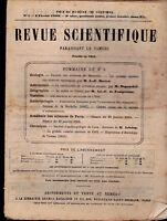 Revue Scientifique 1883 Lot of 5 Physics Zoology Sciences