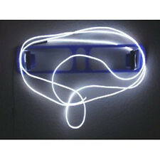 10ft Flexible Neon Light Glow EL Wire Rope Tube Car Dance Party+Controller White
