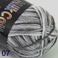AIP Soft Baby Cotton Yarn New Hand dyed Wool Socks Scarf New Knit 1Skeinx50gr 07