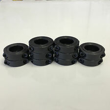"(10pcs) 1"" Inch Double Split Shaft Collar - Black Oxide Finish - 2SC-100 SC100D"